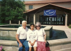 My dad Lee Cross, my mom Nan Cross and my daughter Ruby at the Reagan presidential Library and museum 1994